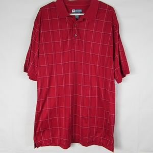Jos. A. Bank Leadbetter Golf Large Red Polo Shirt